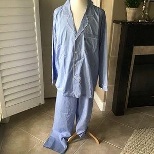 IZOD 2-PC Mens 4XL Blue Pajama Set Cotton Blend